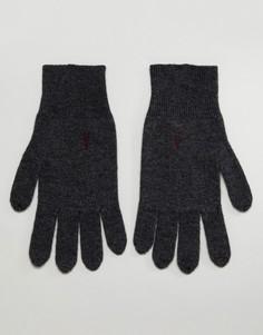 Темно-серые перчатки с добавлением овечьей шерсти AllSaints Fen - Серый