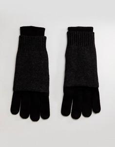 Перчатки с добавлением мериносовой шерсти AllSaints - Черный