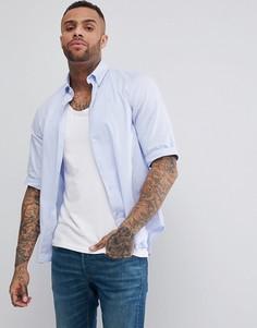 Рубашка классического кроя с рукавами 3/4 от G-Star - Синий