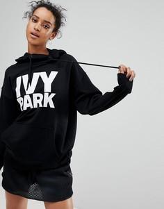 Худи черного цвета с логотипом Ivy Park - Черный