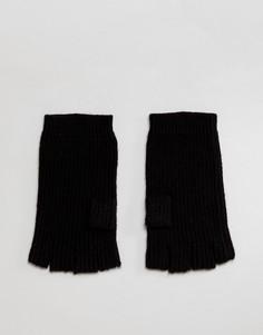 Перчатки без пальцев с добавлением мериносовой шерсти AllSaints - Черный