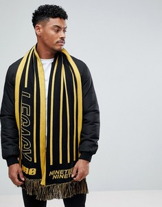 Шарф с принтом (черный/желтый) New Look - Черный