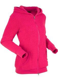 Плюшевая куртка (розово-красный) Bonprix