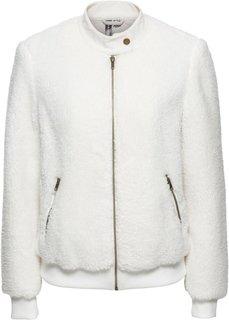 Плюшевая куртка (кремовый) Bonprix