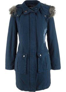 Пальто с вышивкой (темно-синий) Bonprix