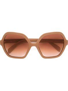 солнцезащитные очки в шестиугольной оправе  Prada Eyewear