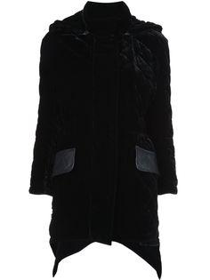 стеганое пальто с бархатной отделкой Fendi
