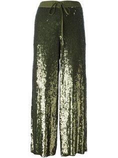 укороченные брюки с пайетками P.A.R.O.S.H.
