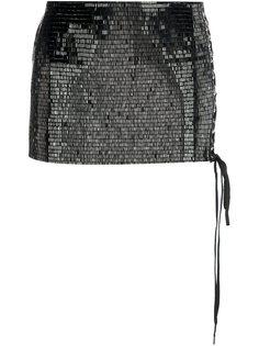 короткая юбка с пайетками Anthony Vaccarello