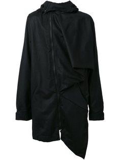 асимметричное пальто с капюшоном Moohong