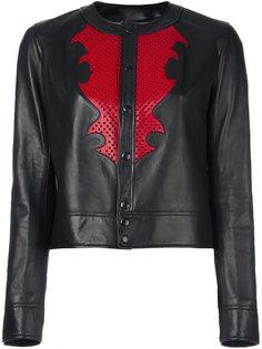 кожаная куртка с кнопочной застежкой Anthony Vaccarello