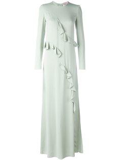 драпированное вечернее платье Lanvin