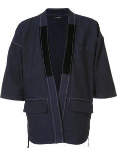 пиджак с контрастной отделкой Wooster + Lardini