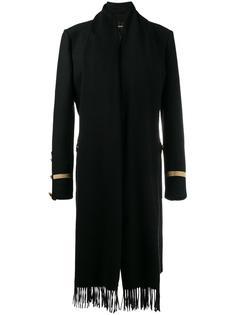 пальто в военном стиле с шарфом Givenchy