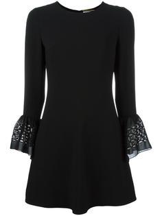 платье с рукавами-колокол Saint Laurent