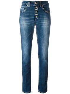 джинсы с завышенной талией на пуговицах Dondup