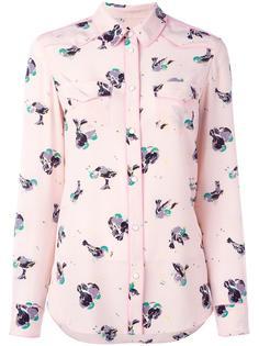 рубашка с принтом птиц  Coach