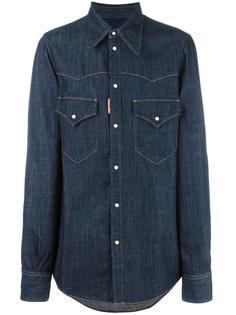 джинсовая рубашка в стиле Вестерн Dsquared2