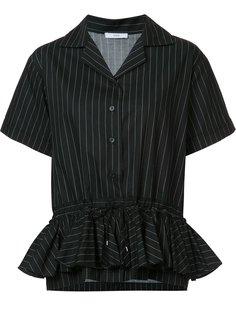 полосатая рубашка с оборчатым подолом Tome