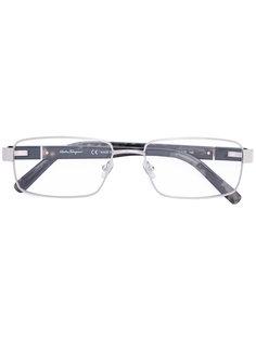 очки в прямоугольной оправе Salvatore Ferragamo