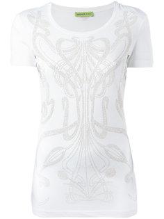 футболка с рисунком из заклепок Versace Jeans