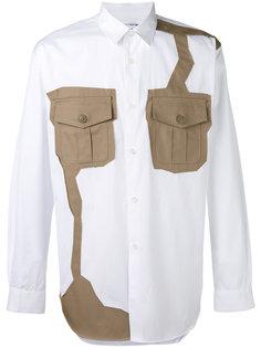 рубашка с контрастными нашивками Comme Des Garçons Shirt
