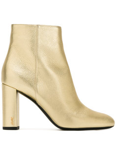 ботинки на каблуке-столбик Saint Laurent
