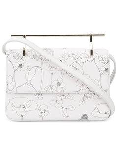 сумка на плечо с цветочным принтом M2malletier
