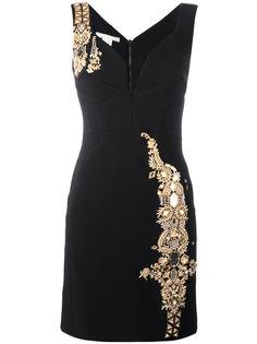 приталенное платье с отделкой металлик  Antonio Berardi