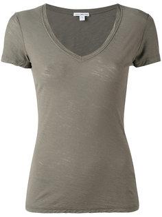 футболка с V-образным вырезом James Perse
