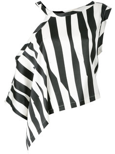 асимметричная полосатая блузка Ann Demeulemeester