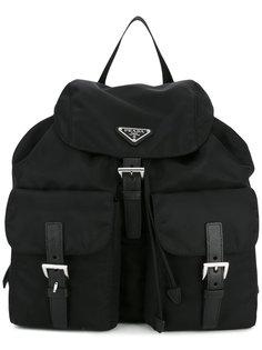 рюкзак с бляшкой-логотипом Prada