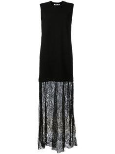 длинное платье с кружевной отделкой McQ Alexander McQueen