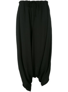 брюки с заниженным шаговым швом  Ys Y`s