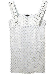 платье с аппликацией Paco Rabanne