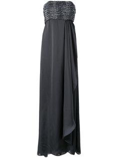 вечернее платье с драпировкой без бретелек Armani Collezioni