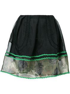 полупрозрачная мини-юбка  Coach