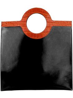 плоская сумка-тоут с контрастными ручками Givenchy