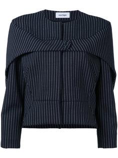 пиджак в тонкую полоску с кнопками Courrèges