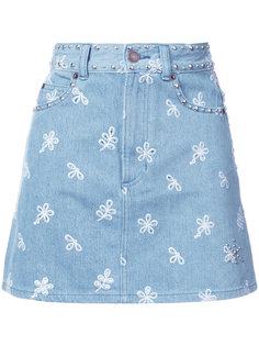 короткая юбка с вышивкой  Marc Jacobs
