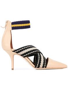 туфли с контрастными лентами Malone Souliers