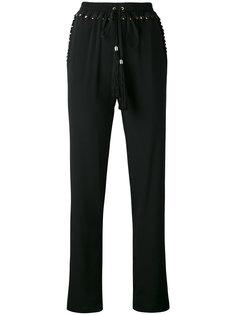 брюки с кисточками на завязках Cavalli Class