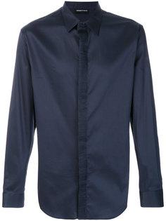 рубашка с плиссированной деталью Emporio Armani