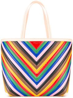 полосатая сумка-тоут Sara Battaglia