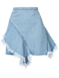 джинсовая юбка с необработанными краями Strateas Carlucci