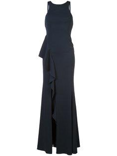 платье в пол с каскадным вырезом Jay Godfrey