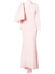 вечернее платье с бантом Christian Siriano