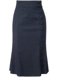 юбка в тонкую полоску  Prabal Gurung