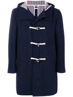пальто дафл с капюшоном  Thom Browne