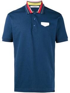 рубашка-поло с кожаной нашивкой логотипа Givenchy